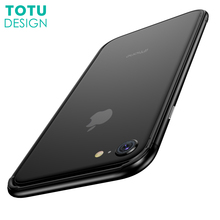 TOTU Bumper Case For iPhone 7 Plus Coque Soft TPU + PC Case For iPhone 7 7Plus Cover Ultra Thin Slim Hybird Phone Shell Capinhas(China)