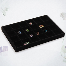 2015 New style Jewelry Display Case all velvet 24 display tray necklace rings bracelets shows box size 35*24*3cm