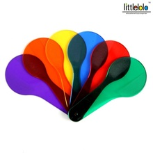baby educational toy montessori plastic color board transparent racket shape toy for kids learning on light table 6pcs/set(China)