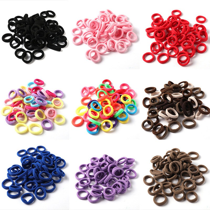 50 Pc Elastic Hair Bands  Hair ponytail Rubber Bands Holder Candy Color Hair Ropes