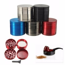 New 4 Layer Broken Smoke Grinder Metal Tobacco Grinder Smoking Pipe Herb Grinders Weed sigaretten maker moledor de Hierba Nargui