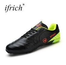 Ifrich nuevo fútbol Zapatos cuero Zapatillas de Soccer tamaño interior  37-44 interior Fútbol sneakers 573ff9190569f