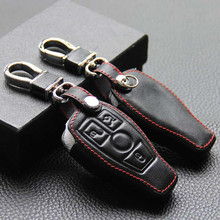 Leather Car Key Cover Keychain Case Bag For Mercedes Cls Cla Gl R Slk Amg C E S Class Auto Accessories For Benz Key Cover Case