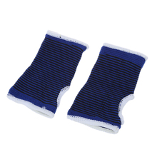 Pairs Blue Black Elastic Wrist Palm Support Protecting Brace(China)