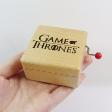 Handmade Game of Thrones wooden music box special souvenir gift box, birthday gifts free shipping(China)
