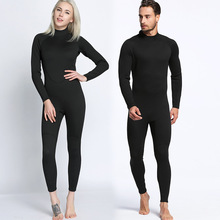 2mm men and women, full black long sleeve trousers, diving suits, one-piece diving suits, surfing clothes, warm waterproof swimm