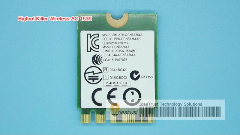 Bigfoot Killer Wireless-AC1535 killer1535 867M BT4.1  GE72/P651SE/SG/P650S T5/T7  WiFi Wireless Card  better than killer 1525<br><br>Aliexpress
