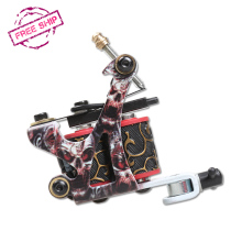 New Professional Tattoo Machine 10 Warps Coils Cast Iron Tattoo Guns For Beginner Shader Liner Free Shipping
