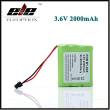 Eleoption 3.6V 2000mAh Ni-MH Cordless Phone Battery for Panasonic KX-A36 P-P501 HHR P-P501 P-P504 For Uniden BT-905(China)