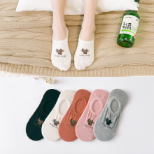 CAT Warm comfortable cotton bamboo fiber girl women's socks ankle low female invisible  color girl boy hosier 1pair=2pcs WS96