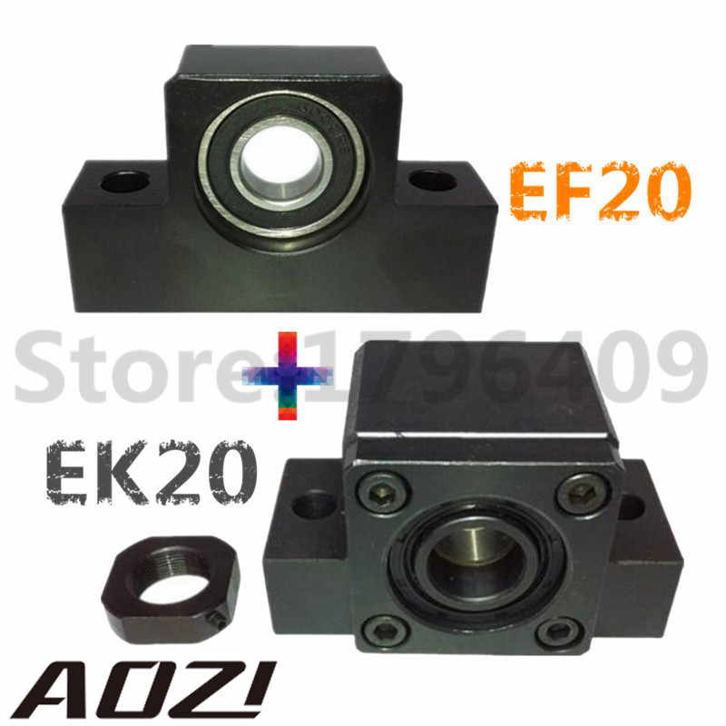 One Set EK/EF20 /1pc EK20 And 1pc EF20 For Ball Screw 2505<br>