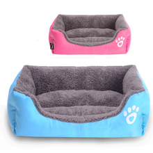 Blue Rose Dog Sofa Mat Cozy Soft Cute Pet Dog House Fabric Warm Cotton Pet Dog Beds for Cat Small Dogs Puppy Chihuahua Yorkshire(China)