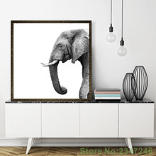 Minimalist Nordic Elephant Canvas Painting Black And White Painting Wallpaper and Poster for Living Room Bedroom Decoration