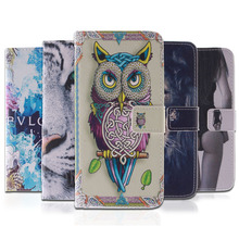 Fashion Patterns Leather Flip Case For Asus Zenfone 5 Mobile Phone Cases Back Cover With Stand & Wallet Function 4D33