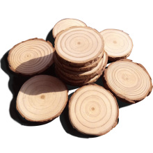 5pcs 7-9CM Wood Log Slices Christmas Birthday Baby Shower Rustic Country Wedding Decoration DIY Crafts Wedding Centerpieces(China)