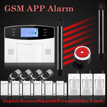 2017 New Hot Selling Free Shipping Wireless GSM Alarm System LCD Keyboard Door Winodw Beam PIR Sensor Alarm Wolf Guard M2B