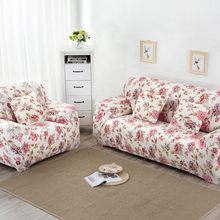 Beautiful Flower Printing Sofa Cover All-inclusive Stretch Soft Slipcovers tight wrap Slip-resistant Elastic Couch Covers Case(China)