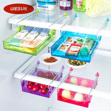 2016 Summer Hot Sales ABS Drawer Shelf Attach Storage Box Bin for Refrigerator Organizer Table free shipping UIE001