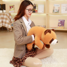 65cm Brown raccoon software pillow doll raccoon plush toy High quality retail(China)