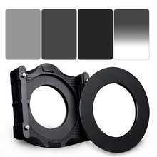 Zomei 6 in 1 Square Filter Kit Set 150*100mm Full Grey ND2+ND4+ND8+Gradual Grey ND4+Filter Holder Support+Adapter Ring for Cokin(China)