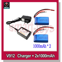 V912 Charger,Balance Box and Battery 850/1000/1200mAh for WLtoys V912 V915 RC Helicopter Parts(China)
