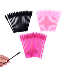 50Pcs Hot Sale Applicator Spoolers Makeup Brush Tool Cosmetic Eyelash Extension Disposable Mascara Wand(China)