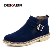 DEKABR Plus Size 38~47 Men Snow Boots Warm Men Motorcycle Boots Men Winter Shoes Brand Fashion Ankle Men Boots Botas Hombres