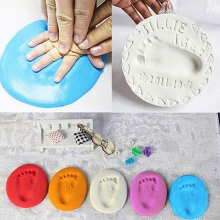 Buy Creative Gift Baby Air Drying Soft Clay Handprint Footprint Imprint Hand Inkpad Casting for $2.29 in AliExpress store