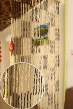 Curtain straw weaving partition door curtain kindergarten hand curtain finished paper rope curtain hanging screen environmental(China)