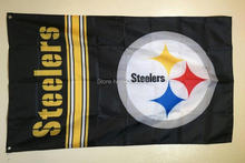 Pittsburgh Steelers Fans Supporters Outdoor Indoo Football American College Team Flag 3X5FT Drop Shipping Custom Club Sport Flag