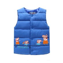 Cartoon Baby Jackets Vest Kids Children Boys Girls Jackets Vest Coat Baby Vest Cotton Liner