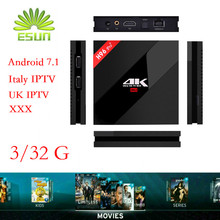 Super IPTV H96 Pro+/H96MAX Android 7.1 IPTV BOX 1/8G 2/16G 3/32G S912 Italy Spain UK French Germany Portugal EX-YU XXX 7000+VOD