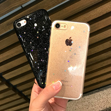 Bling Stars Soft Cases for Coque iPhone 6 Case Silicone Fundas Capa for iPhone 6s 7 Plus Luxury Back Cover Skin New(China)