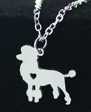 SUTEYI foreign trade jewelry wholesale love poodle pendant necklace the pet dog tag silver chain animals jewelry necklace women