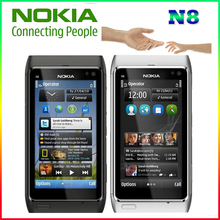 "100% Original Nokia N8 Mobile Phone 3G WIFI GPS 12MP Camera 3.5"" Touch screen 16GB Storage cheap phone"