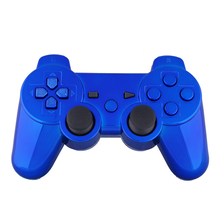 New Replacement Chrome Blue Shell and Buttons for PS3 Controller With Free Tools(China)