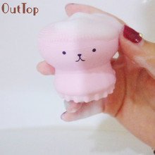 OutTop 2017 My Beauty Tool Exfoliating Jellyfish Silicon Brush / Pore Brush Makeup Brushes Sep 1(China)