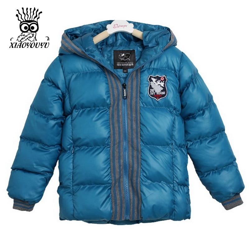 XIAOYOUYU Size 100-140 cm Boys Casual Coats Hooded Design Zipper Closure Kids Fashion Outerwears Solid Color Children ClothingÎäåæäà è àêñåññóàðû<br><br>