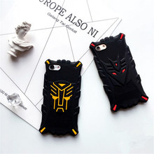 For iphone 7 case Popular Soft Silicon Back Cover Case For iPhone 6S 6 Plus 7Plus Black Cool Bumble bee Like Transformers Case