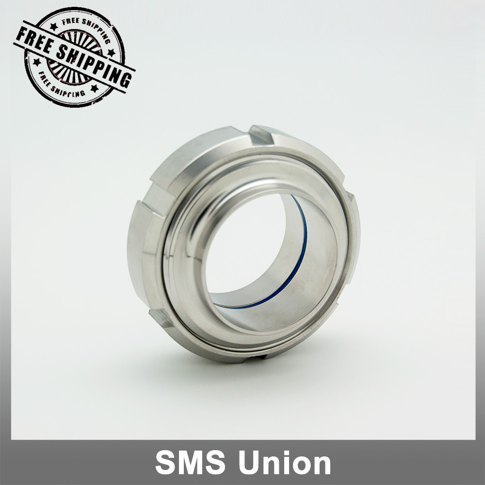 1.5 2Sanitary Union SMS Standard including nut male liner and blue silicon gasket<br><br>Aliexpress