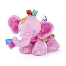 New Animal Taggies Elephant dog Soft Stuffed Plush Crib Bed Hanging Hand Rattles Baby Toys Girl Boy Gift Dolls