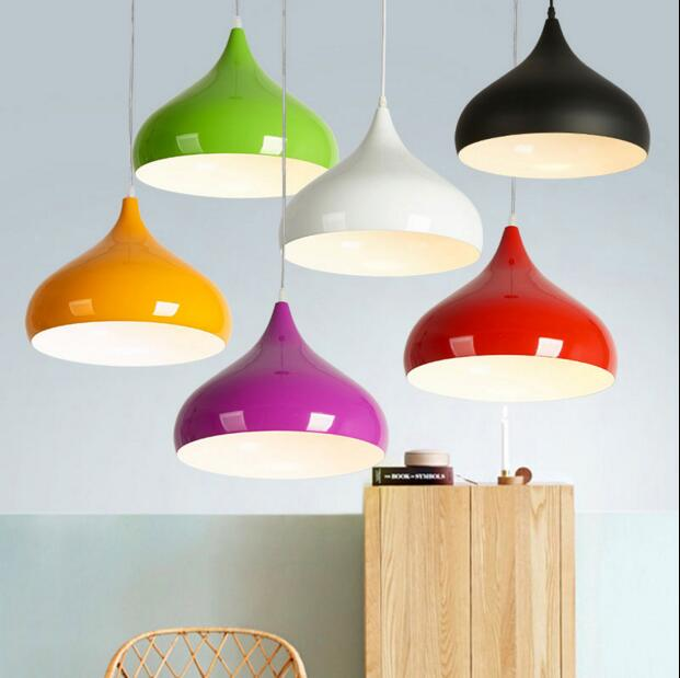 Novelty Colorful aluminum Pendant lights Bar Restaurant Bedrooms Large Shopping mall E27 Art Pendant Lamps<br>