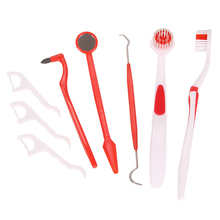 2017 Hot Sale High Quality 8 pcs Oral Care Dentist Pick Tooth Kit Mirror Teeth Toothbrush Set New(China)