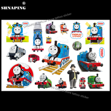 SHNAPIGN Train Thomas Child Temporary Tattoo Body Art Flash Tattoo Stickers 17*10cm Waterproof Henna Tatoo Car Styling Sticker(China)