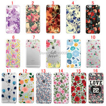 For iPhone 4 4S 5 5C 5S SE 6 6S 7 Plus Love Life Floral Flowers Rose Daisy Cherry Blossom Trendy Patern Soft TPU Case Cover