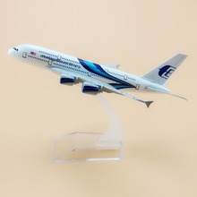 16cm Alloy Metal Blue Air Air Malaysia Airlines Airbus 380 A380 Airways Plane Model Aircraft Airplane Model w Stand(China)
