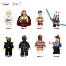 8pcs star wars super heroes Princess Leia luke skywalker Mace Windu building blocks action model bricks toys for children(China)