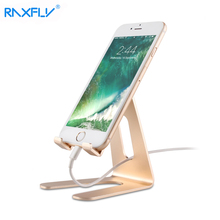 RAXFLY Universal Phone Holder Stand Aluminum Metal Tablet PC Stand For iPhone iPad Samsung Tablets Holder Support Desk Holder(China)