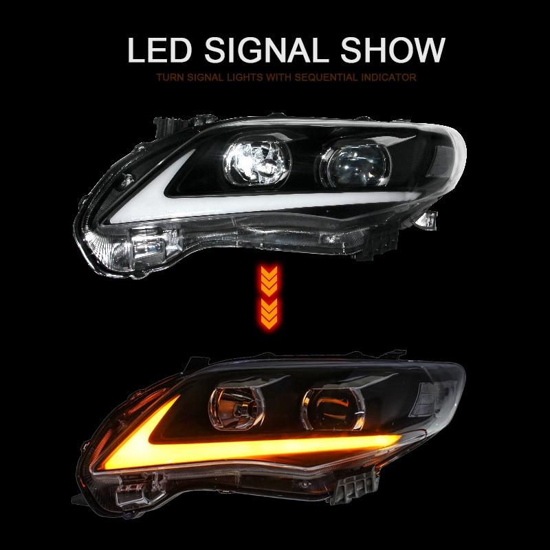 CNSUNNYLIGHT For Toyota Corolla 2011 2012 2013 Car Headlights Assembly With LED DRL Turn Signal Lights Plug & Play Head Lights (4)