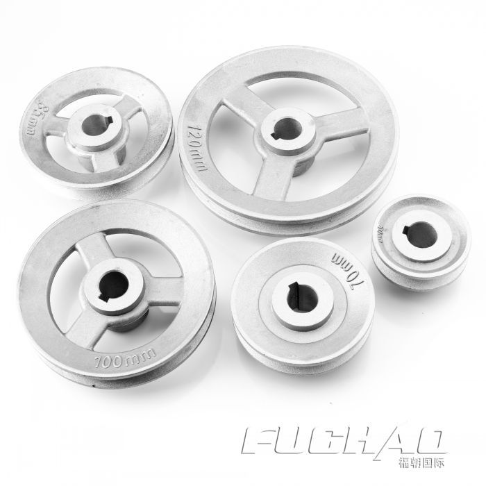 """Single-groove Pulley 120mm shaft size 25mm 1/"""" for electric motor Cast Iron Made"""